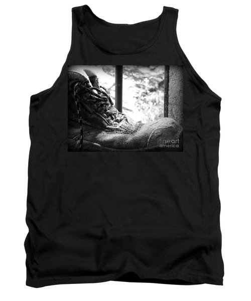 Old Boots Tank Top by Clare Bevan