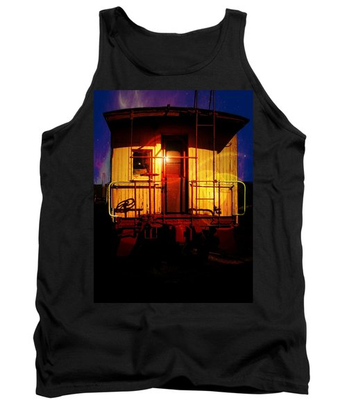 Aaron Lee Berg Tank Top featuring the photograph Old Caboose  by Aaron Berg