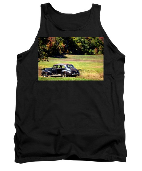 Old Car In A Meadow Tank Top