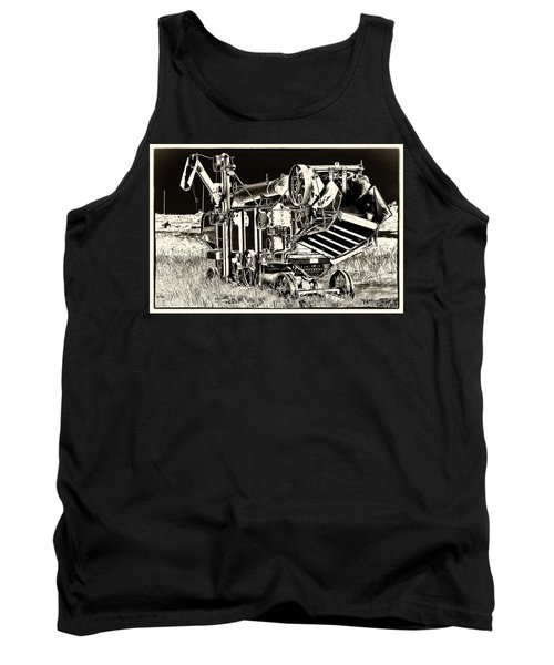 Old Case Thresher - Black And White Tank Top