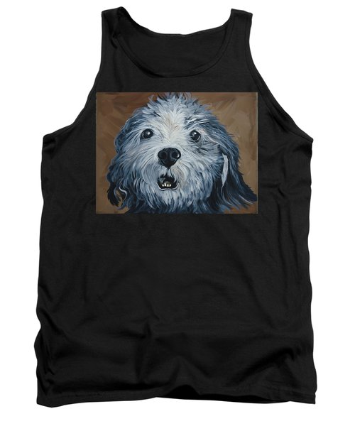 Tank Top featuring the painting Old Dogs Are The Best Dogs by Leslie Manley