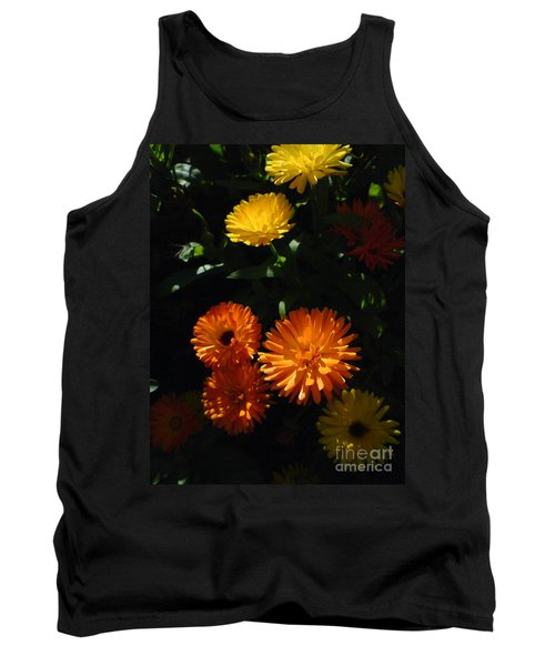 Tank Top featuring the photograph Old-fashioned Marigolds by Martin Howard