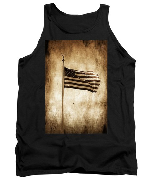 Tank Top featuring the photograph Old Glory by Aaron Berg