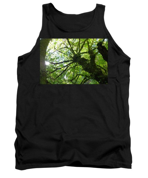 Old Growth Tree In Forest Tank Top