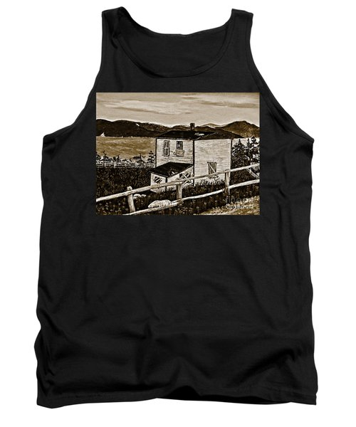 Old House In Sepia Tank Top