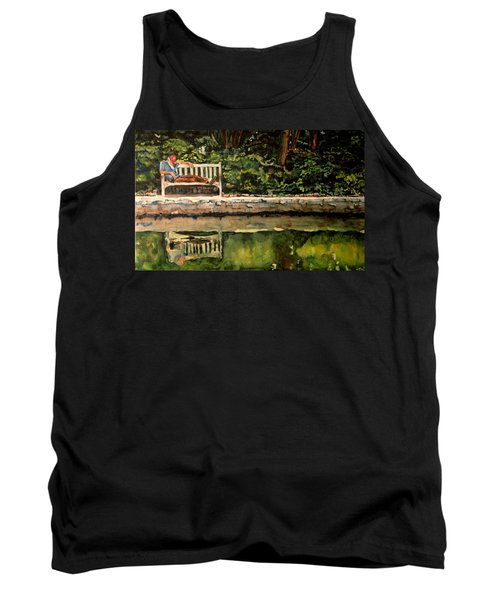 Old Man On A Bench Tank Top