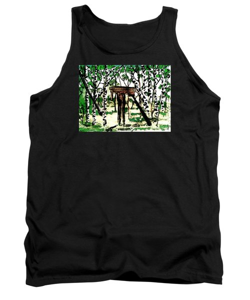 Tank Top featuring the painting Old Obstacles by Denise Tomasura