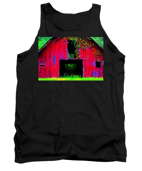 Tank Top featuring the photograph Old Red Barn Iv by Lanita Williams