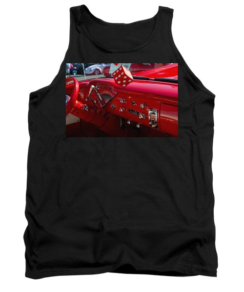 Tank Top featuring the photograph Old Red Chevy Dash by Tikvah's Hope