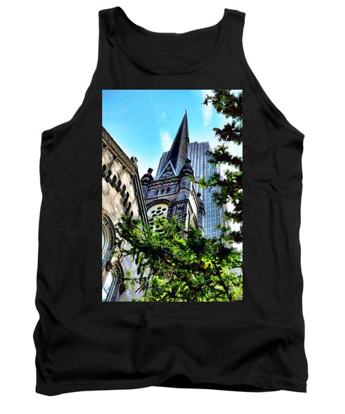 Tank Top featuring the photograph Old Stone Church - Cleveland Ohio - 1 by Mark Madere