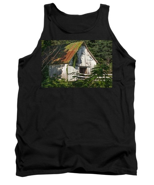 Old Whitewashed Barn In Tennessee Tank Top by Debbie Karnes