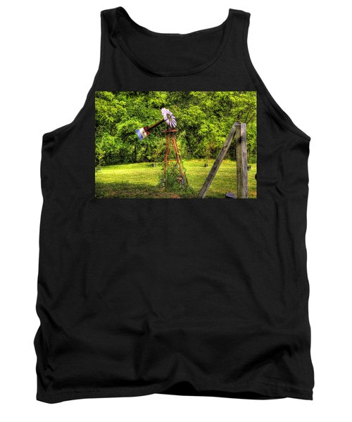 Old Windmill Tank Top by Jonny D