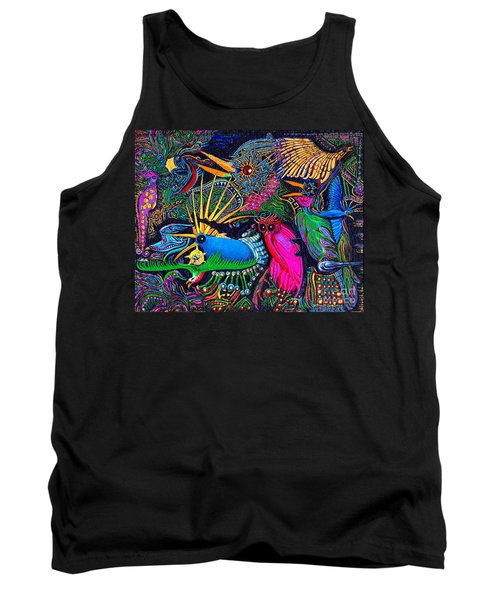 Tank Top featuring the painting Omen Birds by Peter Gumaer Ogden
