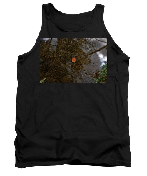 Tank Top featuring the photograph One Leaf by Jeremy Rhoades