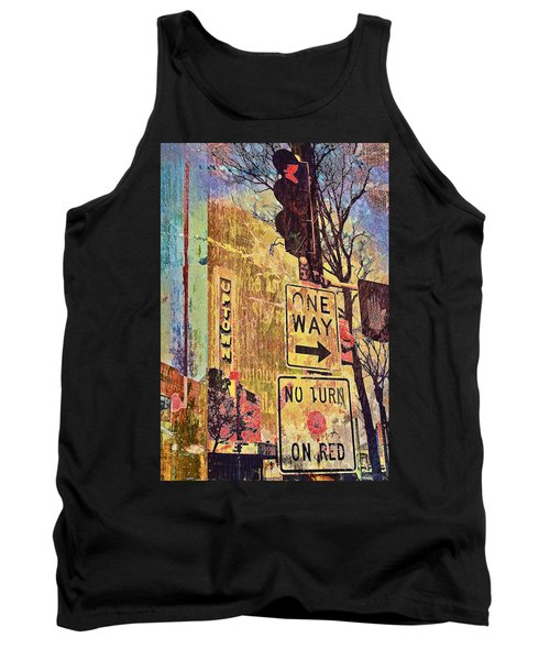 One Way To Uptown Tank Top by Susan Stone