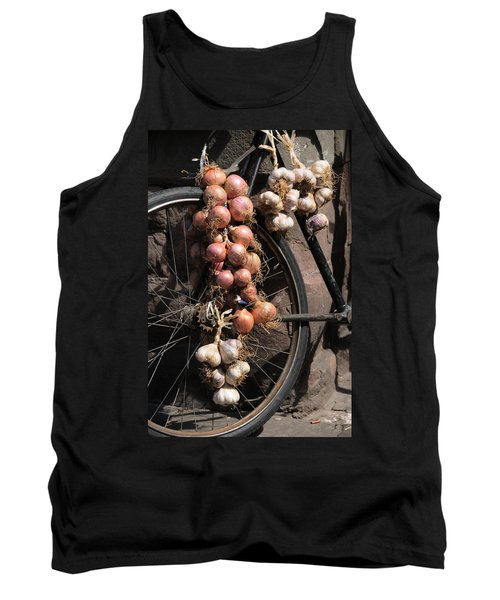 Onions And Garlic On Bike  Tank Top