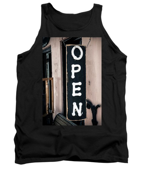 Tank Top featuring the photograph Open For Business by Sennie Pierson