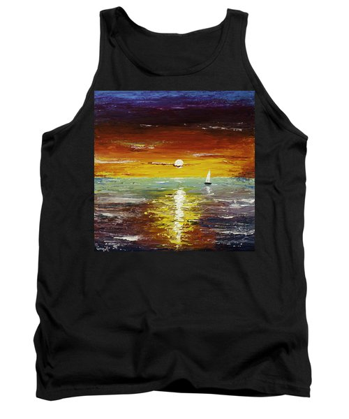 Open Sea Tank Top by Gray  Artus