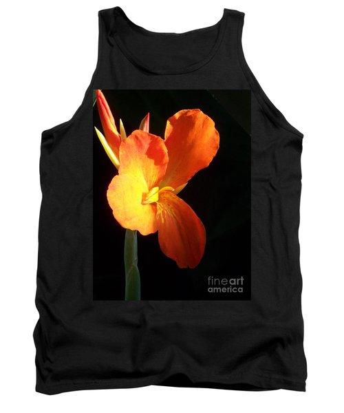 Orange Flower Canna Tank Top by Eric  Schiabor