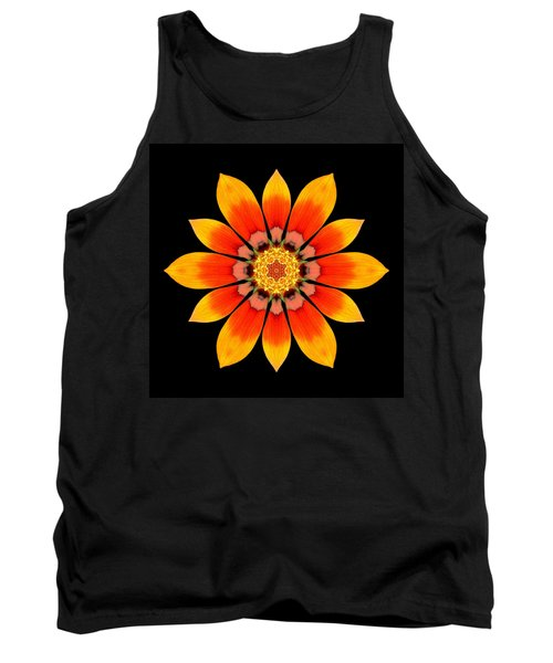 Orange Gazania I Flower Mandala Tank Top