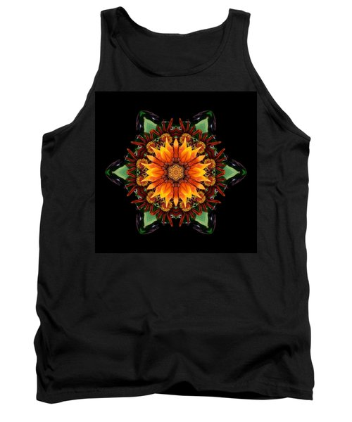 Orange Gazania IIi Flower Mandala Tank Top
