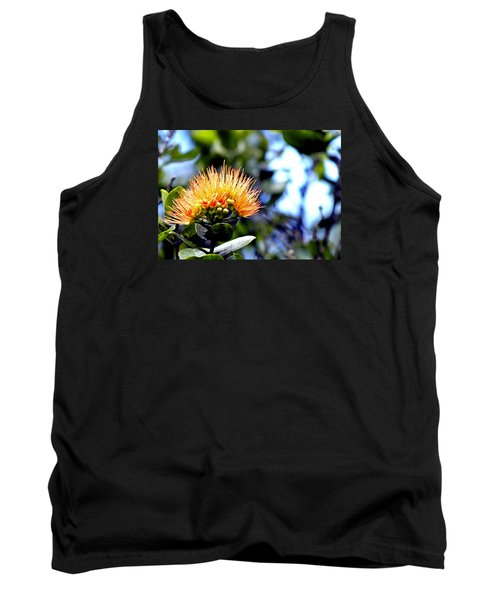 Orange Lehua On Volcano Ranch Tank Top