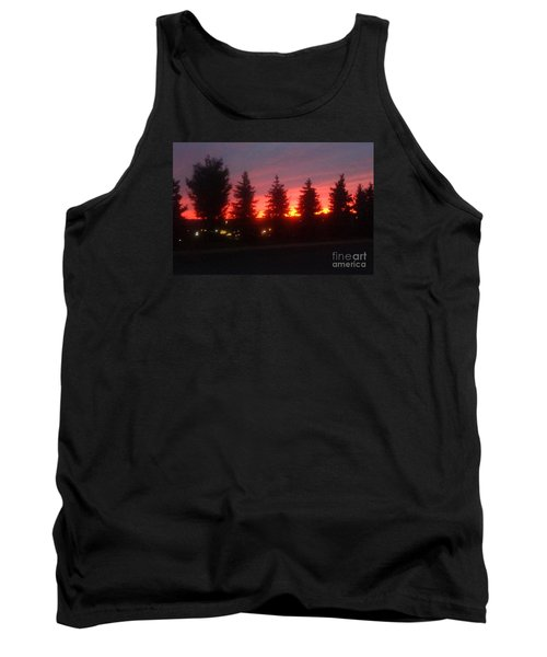 Tank Top featuring the photograph Orange Sunset by Christina Verdgeline