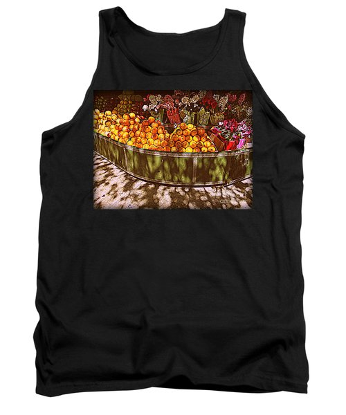 Tank Top featuring the photograph Oranges And Flowers by Miriam Danar