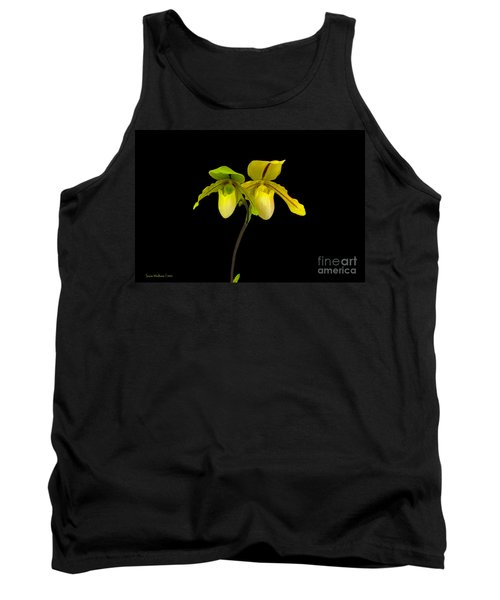 Tank Top featuring the photograph Orchid Paphiopedilum Druid Spring by Susan Wiedmann