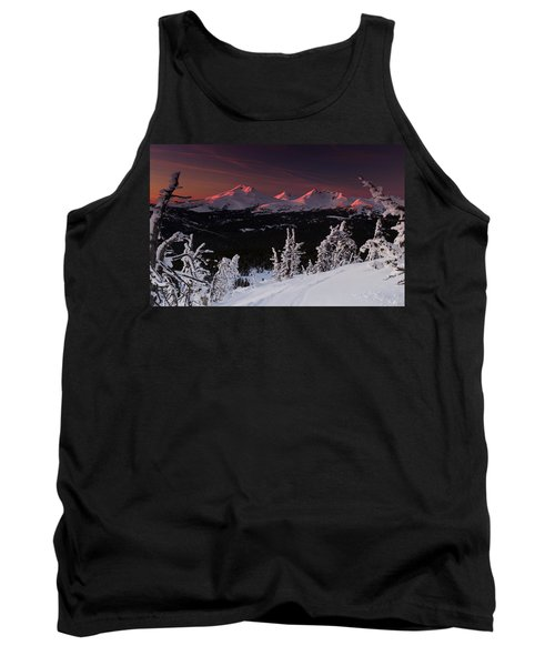 Tank Top featuring the photograph Oregon Cascades Winter Sunset by Kevin Desrosiers