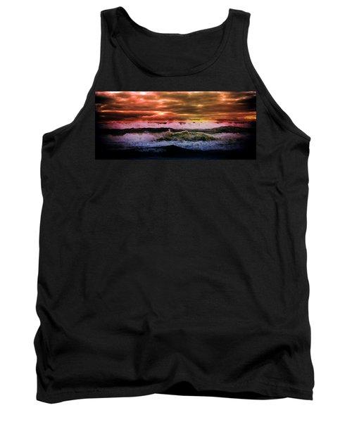 Aaron Lee Berg Tank Top featuring the photograph Ocean Storm by Aaron Berg
