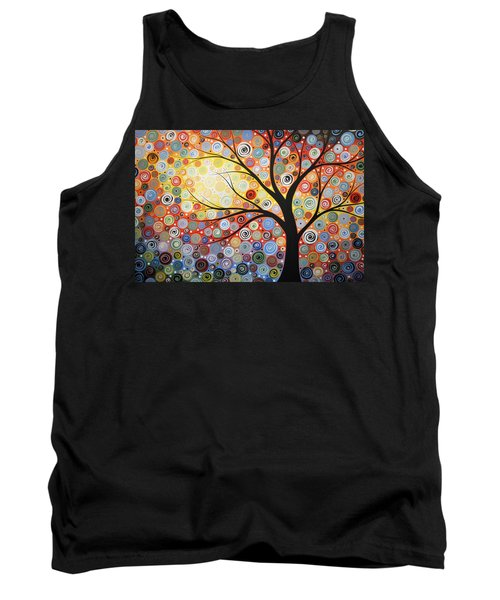 Original Painting Print Titled Celestial Sunset Tank Top by Amy Giacomelli