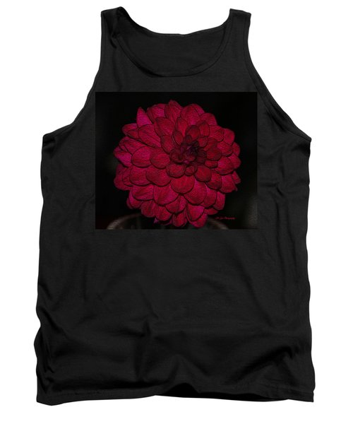 Ornate Red Dahlia Tank Top