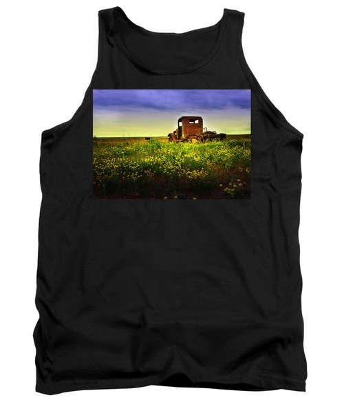 Tank Top featuring the photograph Out To Pasture by Sonya Lang