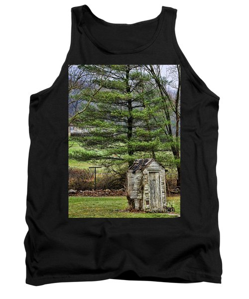 Outhouse In The Backyard Tank Top