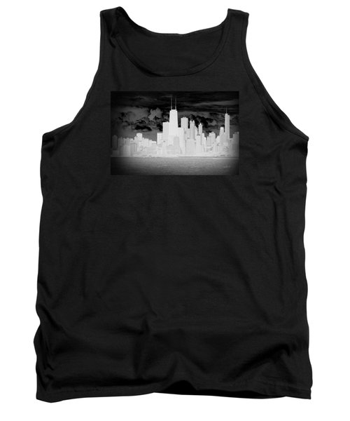 Outline Of Chicago Tank Top by Milena Ilieva