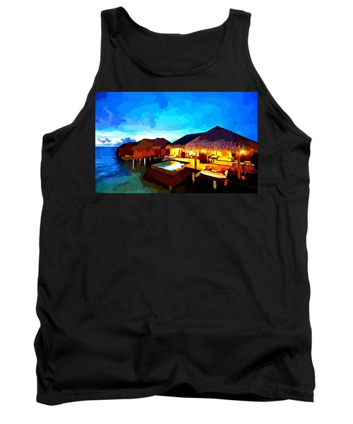 Over Water Bungalows Tank Top