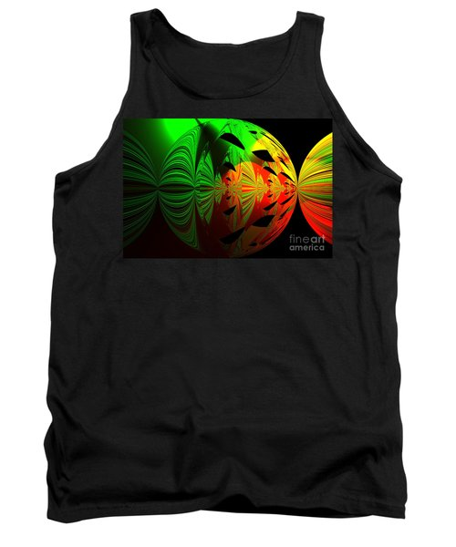 Art. Unigue Design.  Abstract Green Red And Black Tank Top