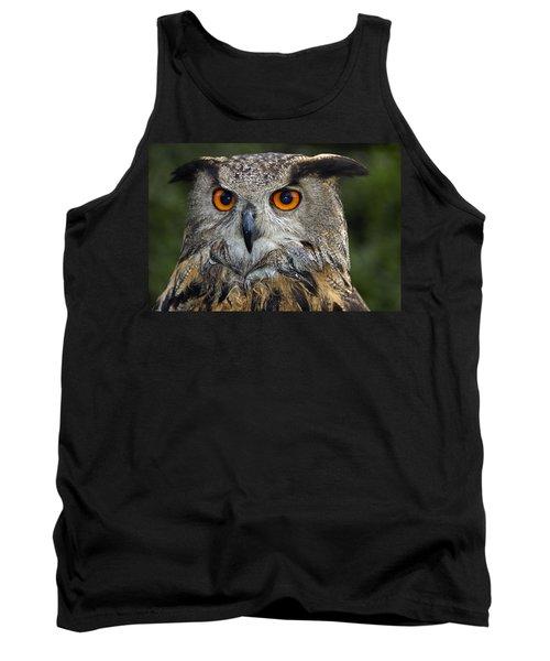 Owl Bubo Bubo Portrait Tank Top