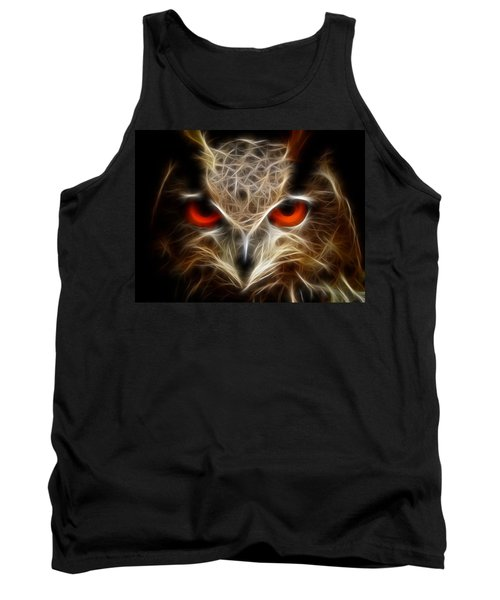 Owl - Fractal Artwork Tank Top