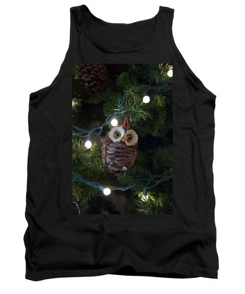Owly Christmas Tank Top by Patricia Babbitt