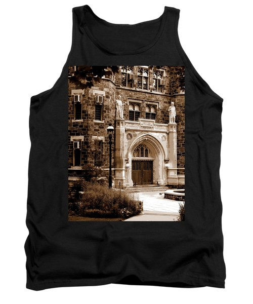 Tank Top featuring the photograph Packard Laboratory Sepia by Jacqueline M Lewis