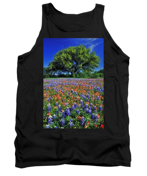Paintbrush And Bluebonnets - Fs000057 Tank Top