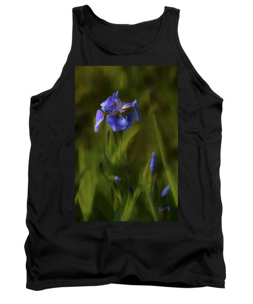 Painted Alaskan Wild Irises Tank Top