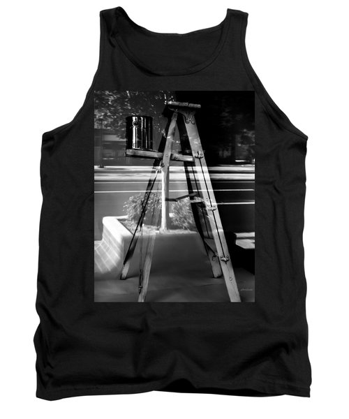 Tank Top featuring the photograph Painted Illusions - Abstract by Steven Milner