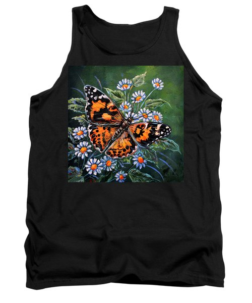 Painted Lady Tank Top by Gail Butler