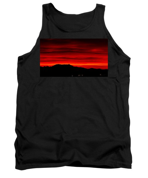 Tank Top featuring the photograph Painted Sky 36 by Mark Myhaver