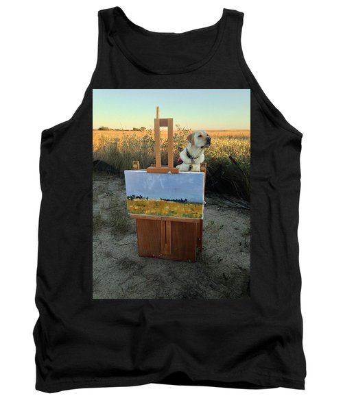 Painterly Lab Tank Top by Mary Ward