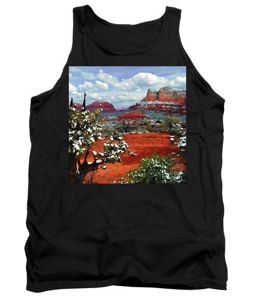 Painting Secret Mountain Wilderness Sedona Arizona Tank Top by Bob and Nadine Johnston