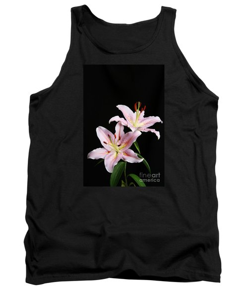 Pale Pink Asiatic Lilies Tank Top by Judy Whitton